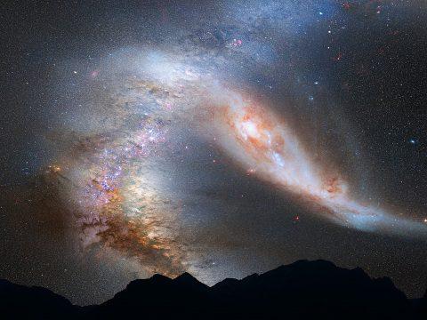 Bela imagem da galaxia de andromeda